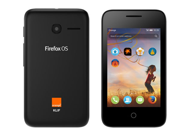 Orange smartphone Firefox OS