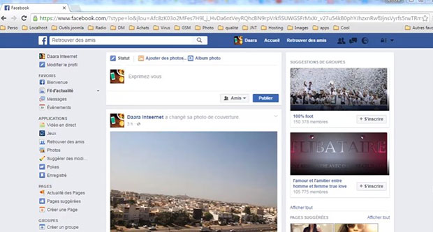 utilise votre compte facebook
